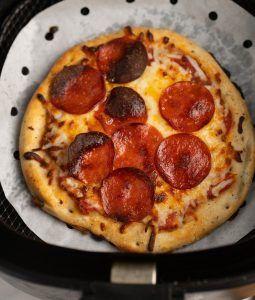 pizza en airfryer deliciosa